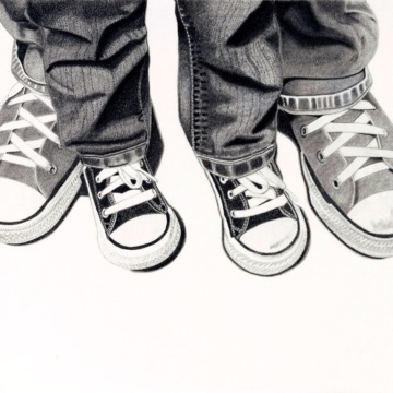 drawing of Converse shoes