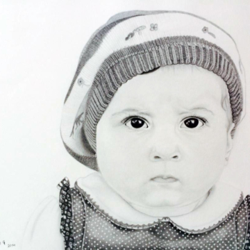 drawing of little girl