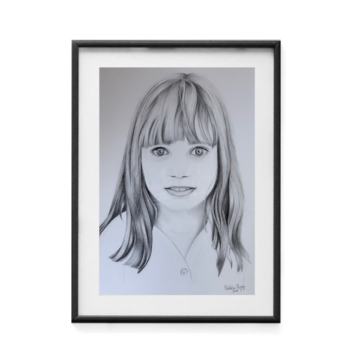 Lucy.-Graphite-on-pañerz-9x11-inches-