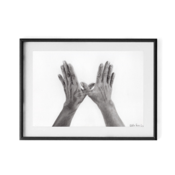 Mother-hands.-Graphite-on-paper.-11x-14